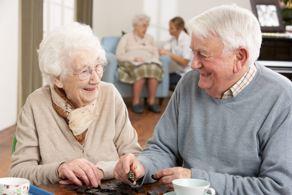Remote monitoring care home residents